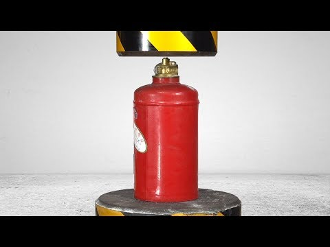 Extremely Powerful 200 Tons Of Hydraulic Pressure Fire Extinguisher!