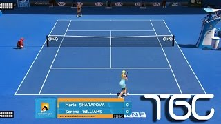 Tennis Elbow 2013 Australian open 2015 WTA MOD V2 gameplay - Maria Sharapova - Serena Williams