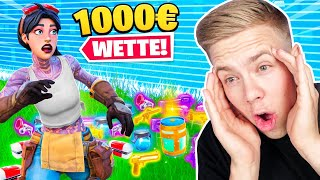 1000€ wer MEHR ITEMS SAMMELT (Wette) in Fortnite!