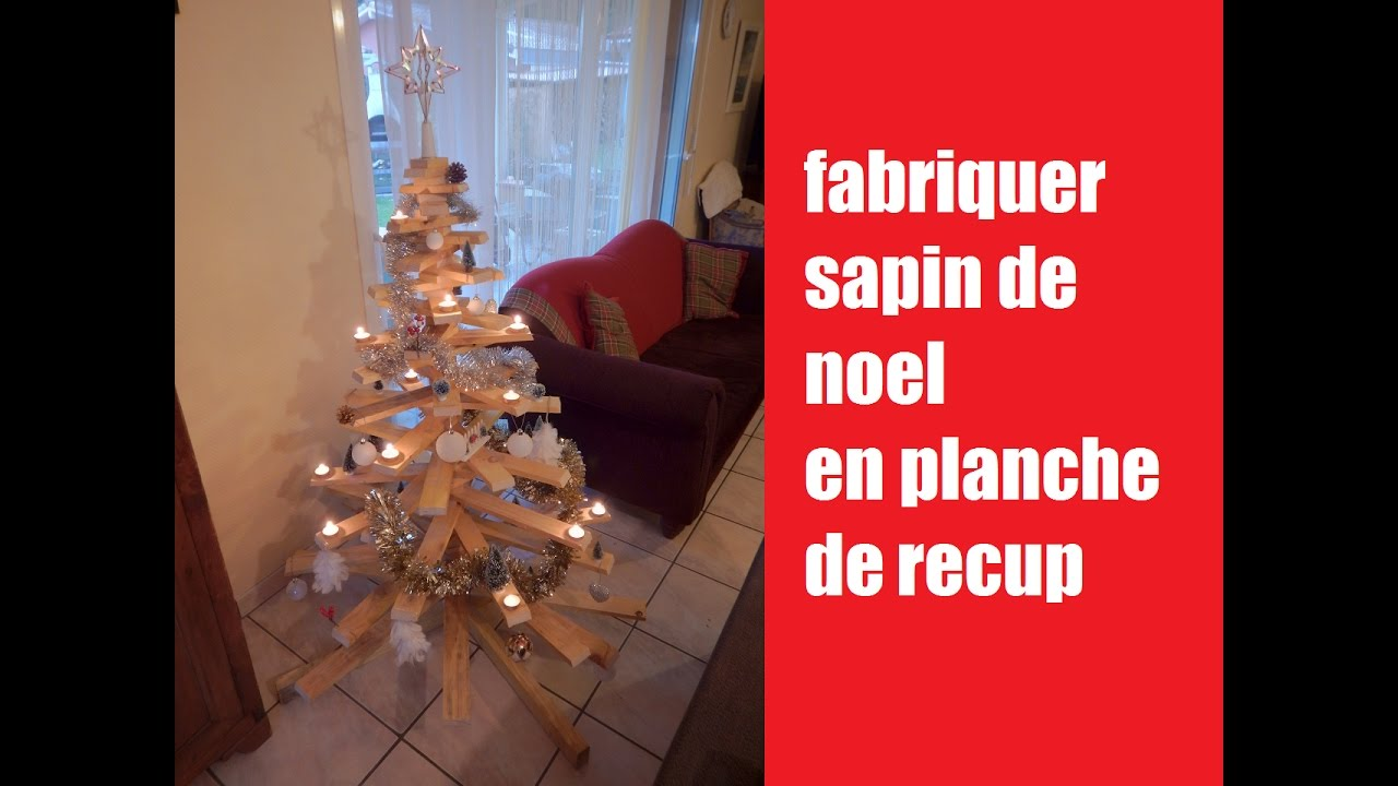 diy fabriquer sapin de noel en bois de recuperation how to make a christmas tree youtube. Black Bedroom Furniture Sets. Home Design Ideas