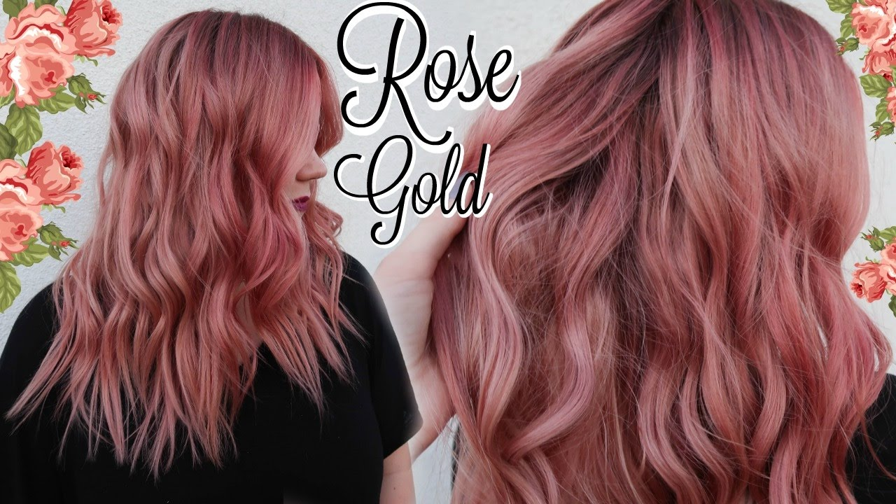 My ROSE GOLD Hair Color Tutorial  (BEST FORMULA EVER ...