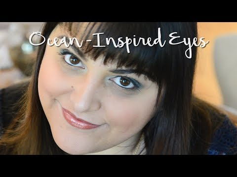 Ocean Inspired Eyes// Using The Ocean and Pacific Palette from Beautycounter
