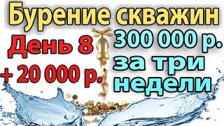 Бурение Скважины На Воду. День 8. +20000 рублей прибыли.
