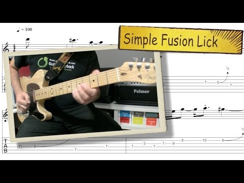 Simple Fusion Jazz Lick
