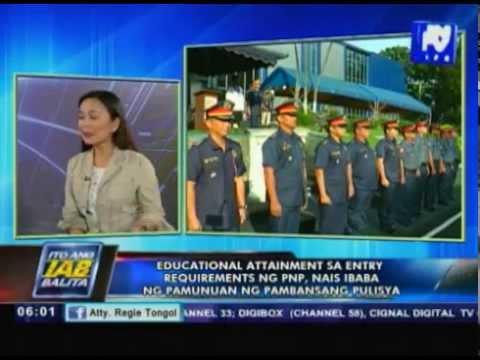 Educational attainment sa entry requirements ng PNP, nais ibaba ng pamunuan ng Pambansang Pulisya