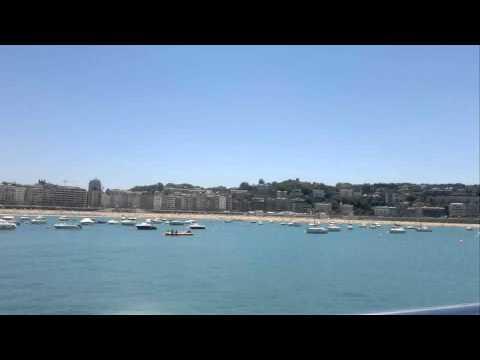 """""""La Concha"""" bay in Donostia-San Sebastian (Gipuzkoa - Basque Country)"""