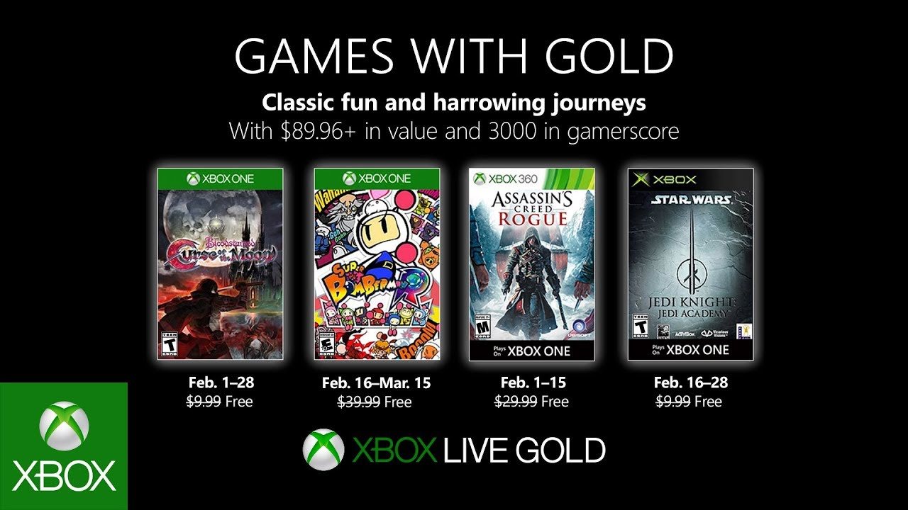 Xbox Games With Gold For February 2019 Star Wars Bomberman And