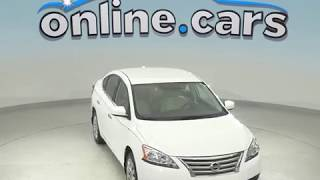 C99029NC Used 2015 Nissan Sentra SV FWD 4D Sedan White Test Drive, Review, For Sale