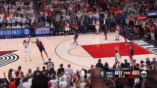 Damian Lillard Hits A Buzzer Beater FROM THE LOGO To Advance To The 2nd Round