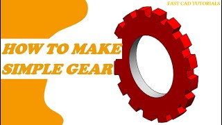 How to make a simple GEAR in Solidworks | CAD Tutorials CIRCULAR PATTERN for Beginners