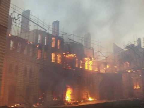 Mount Athos / Feuer im Kloster Chilandariou