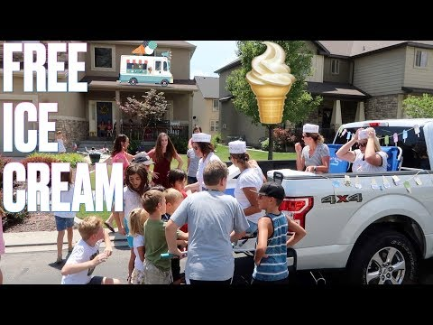 🚚 CONVERTING PICKUP INTO A NEIGHBORHOOD ICE CREAM TRUCK TO GIVE OUT FREE ICE CREAM ON A HOT DAY 🍦