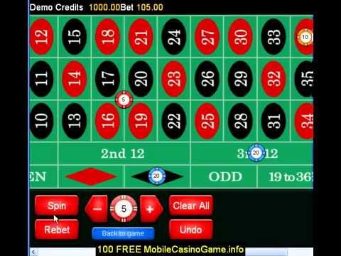 Roulette @ Mobile Gaming Club Casino £100 FREE Bonus1914