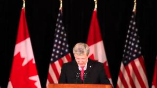 "Prime Minister Harper promises DRIC bridge is ""going to ge"