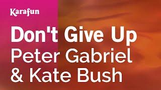 Karaoke Don't Give Up - Peter Gabriel *