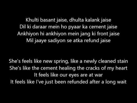 nashe si chadh gayi from befikre lyrics with translation