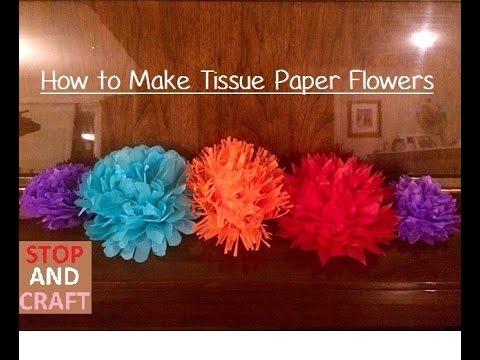 How to make tissue paper flowers youtube youtube premium mightylinksfo