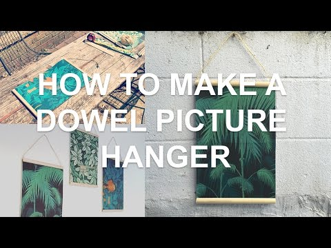 How To Make A Dowel Picture Hanger | DIY Wooden Photo Frame | Chris Martin