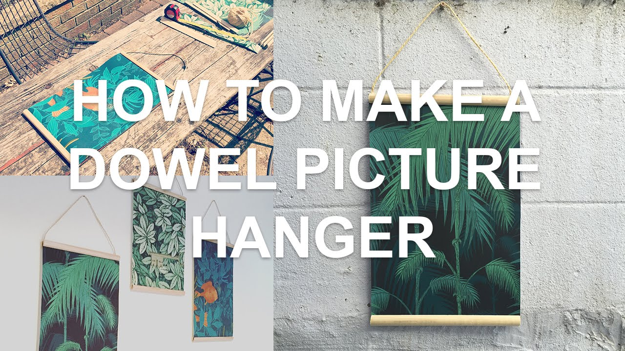 how to put a hanger on a picture frame