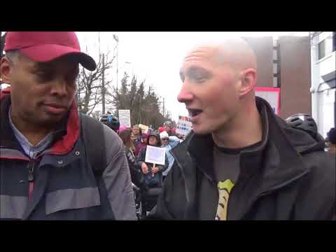 Kyle Makes An Appearance At The Wom'X'ns March Seattle Washington