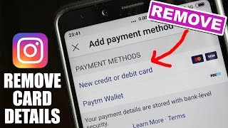 How to Remove Debit/Credit Card from Instagram
