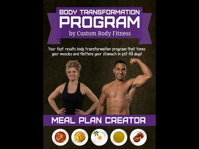 Easily lose fat without dieting: FREE Meal plan creator! Burn belly fat now! By Custom Body Fitness