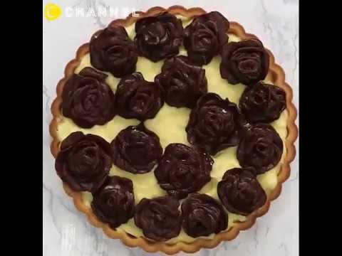 不但外型美麗,內在更有料!巧克力薔薇卡士達塔|CCHANNEL 料理