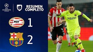 PSV 1-2 Barcelona - GOLES Y RESUMEN - Grupo B - UEFA Cahmpions League