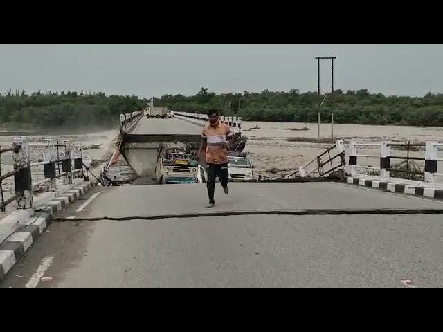 ऋषिकेश देहरादून हाईवे का टूटा पुल