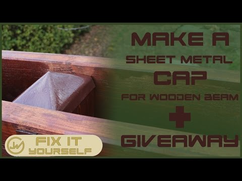 Make A Sheet Metal Cap For Wooden Beam  | Fix It Yourself