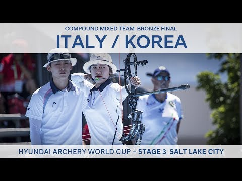 Italy v Korea – Compound Mixed Team Bronze Final | Salt Lake City 2017