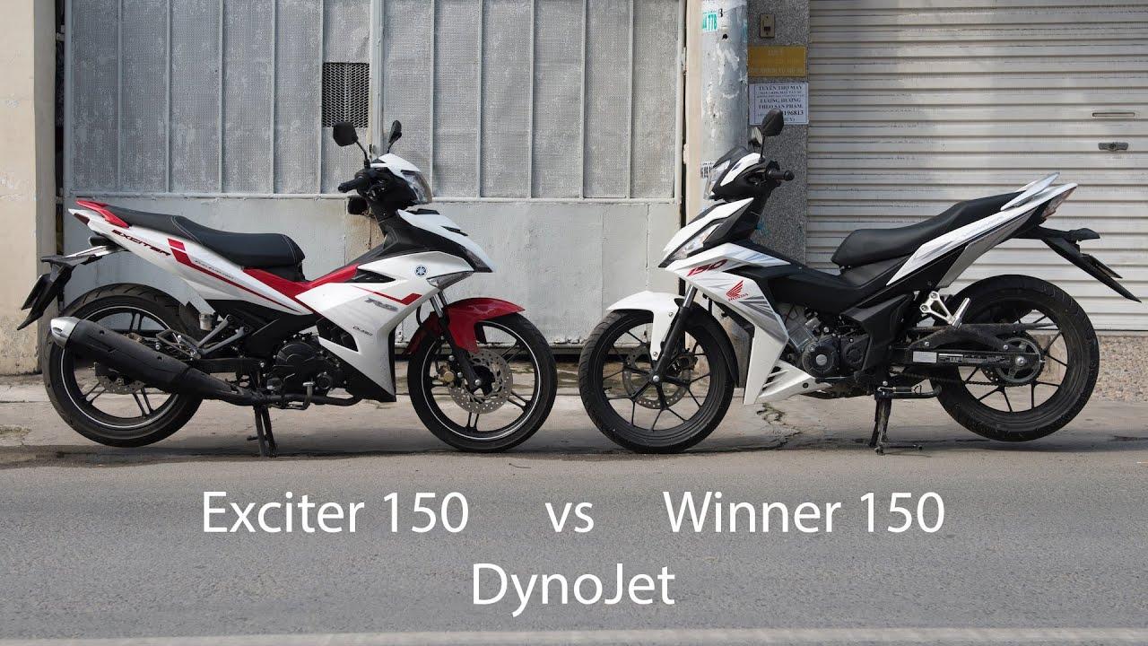 Honda Winner 150 đối đầu Yamaha Exciter trên máy thử DynoJet sẽ thế nào | Xe.Tinhte.vn