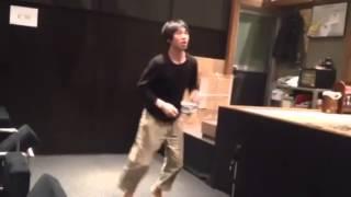 伊藤俊輔・本番前のアップ