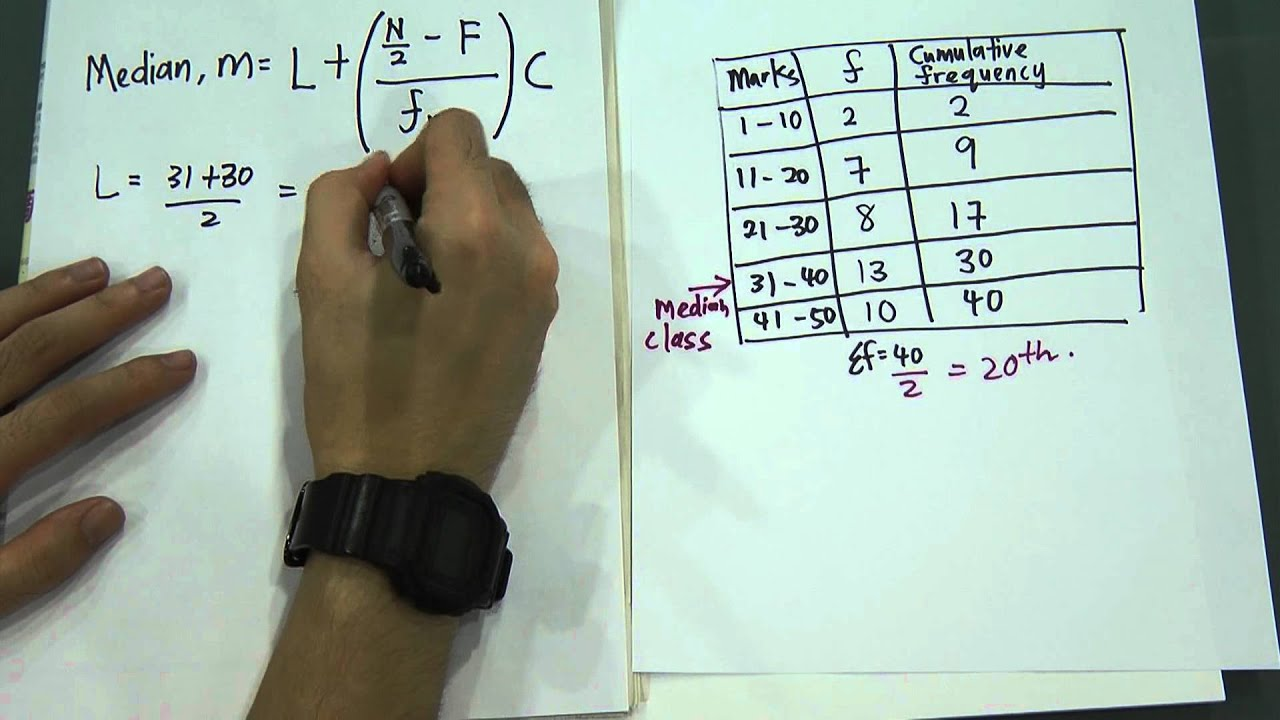 Median formula on statistics youtube ccuart Gallery