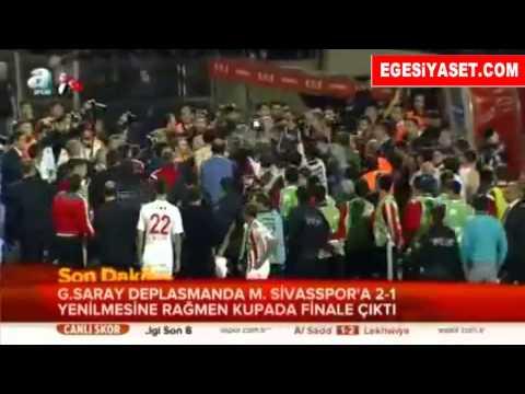 Sivasspor-Galatasaray Maçı Sonrası Olaylar Çıktı