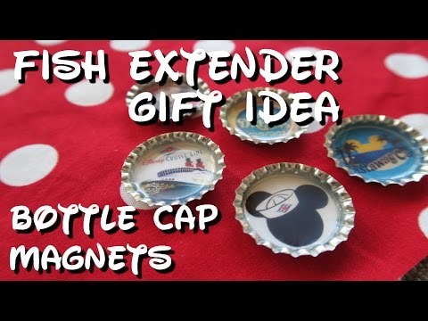 Fish Extender Gift Idea - Bottle Cap Magnets