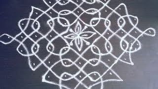 11 Pulli Kolam | Simple Kolam with Dots | Easy Kolam Designs | Step by Step Kolam