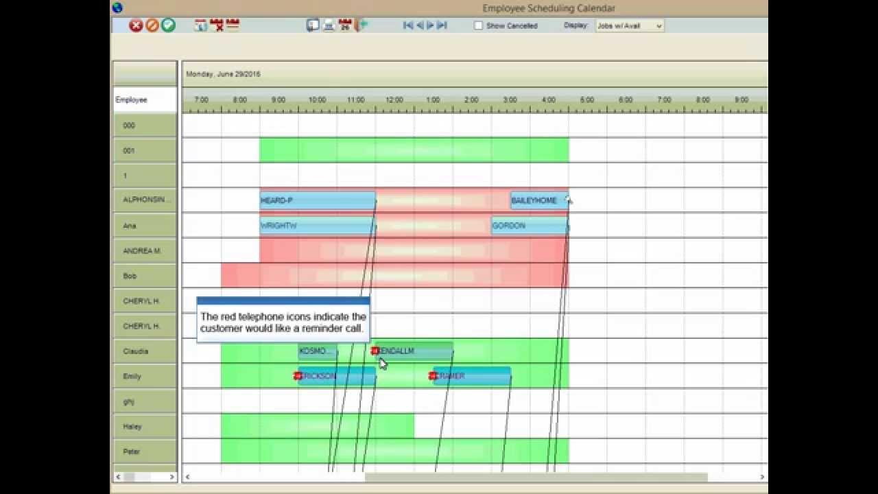 Employee Scheduling Calendar for Field Service Business