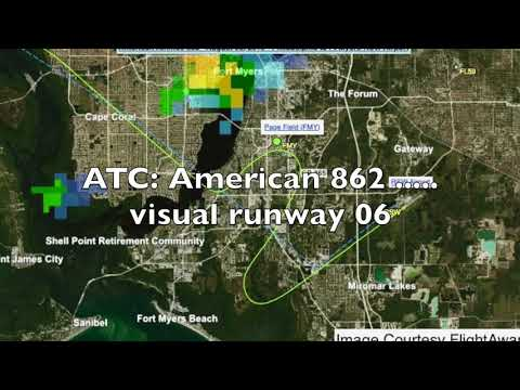 American Airlines Flight AA-862 Nearly Lands At Wrong Airport - ATC And Flight Path.