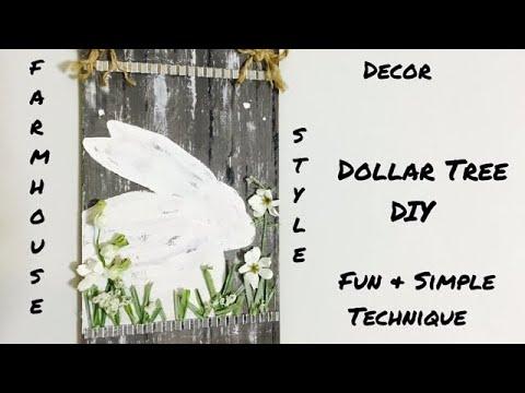 Farmhouse Style Dollar Tree DIY /Spring Easter Bunny Decor