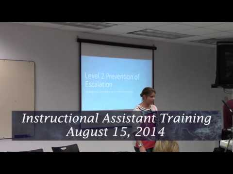 Instructional / Personal Care Assistant Training