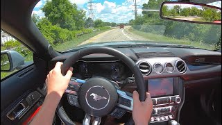 2020 Ford Mustang GT Convertible (6MT) - POV Test Drive (Binaural Audio)