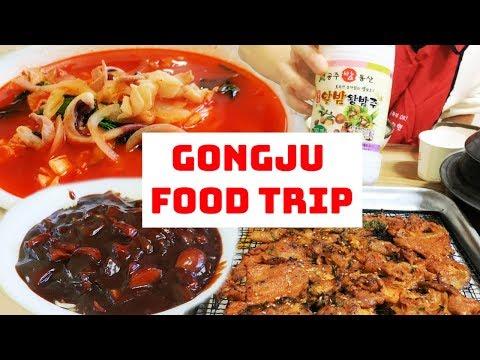 BEST jjamppong & char-grilled spicy pork! (Gongju trip #2)