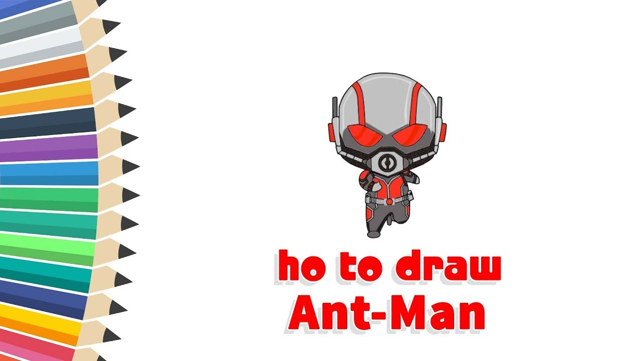 How to Draw Ant-Man | Ant-Man | #Cartooning 4 Kids