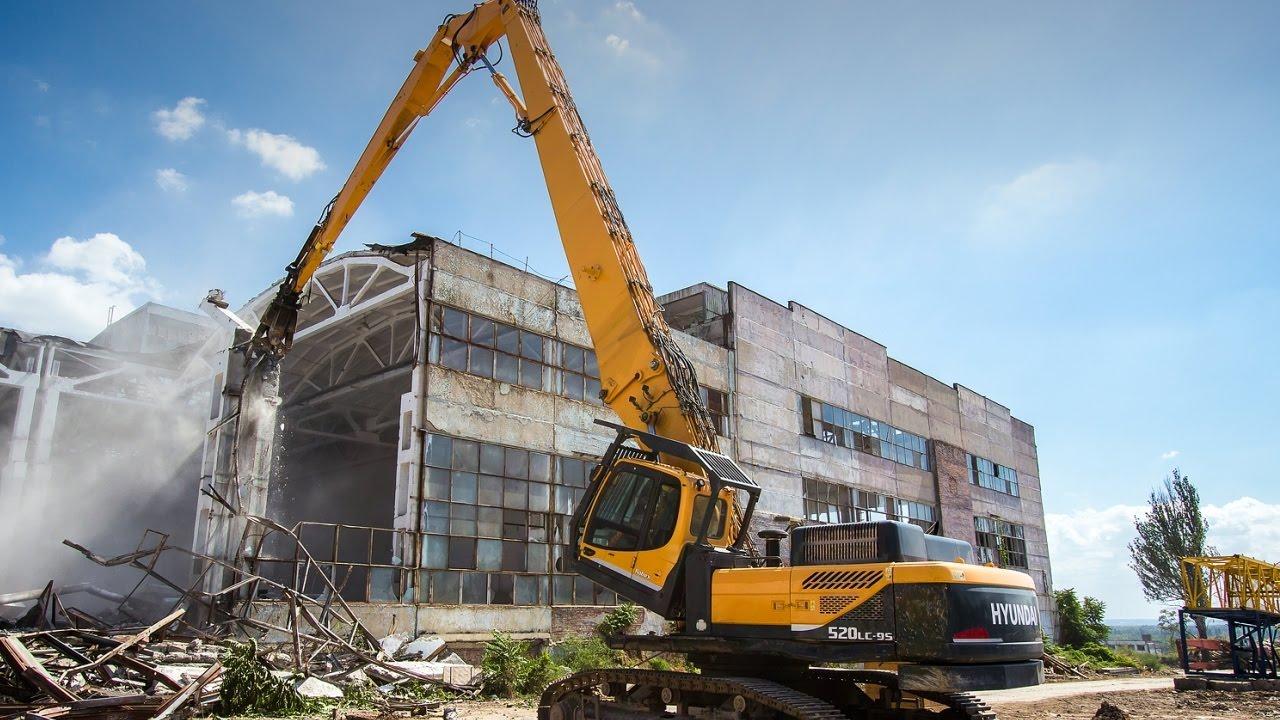 Демонтаж зданий и сооружений на территории бывшего завода «Красный Аксай» - Разрушим ру