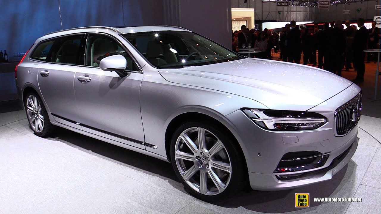 2017 Volvo V90 T6 Inscription - Exterior and Interior Walkaround - Debut at 2016 Geneva Motor ...