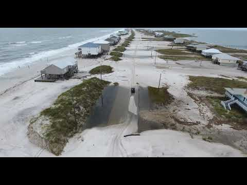 Drone Video Dauphin Island  heading to west end