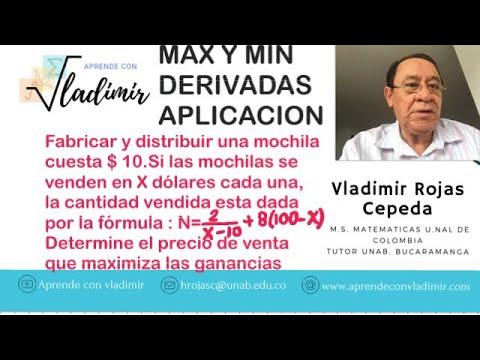 MAX Y MIN DERIVADAS MOCHILAS