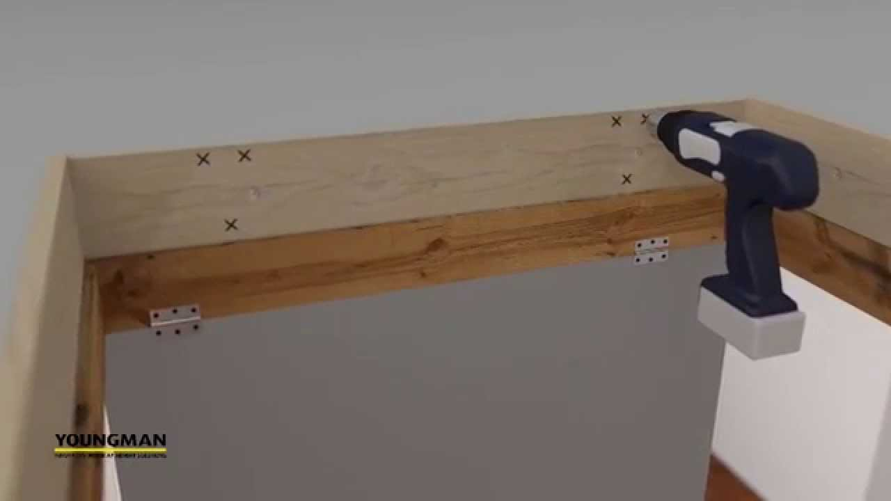 Youngman Telescopic Loft Ladder Installation Youtube