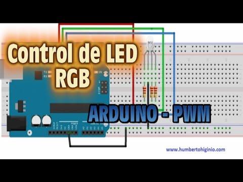 Control de LED RGB por Arduino - PWM